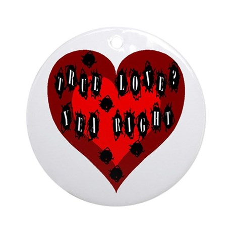Holes in Heart Ornament (Round)