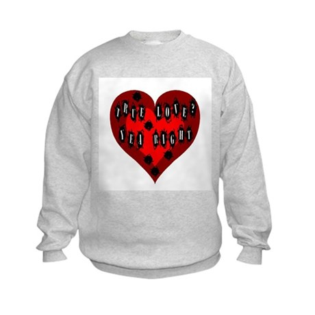 Holes in Heart Kids Sweatshirt