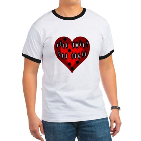 Holes in Heart Ringer T