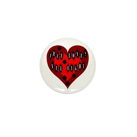 Holes in Heart Mini Button (10 pack)