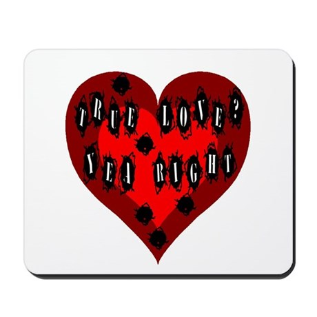 Holes in Heart Mousepad