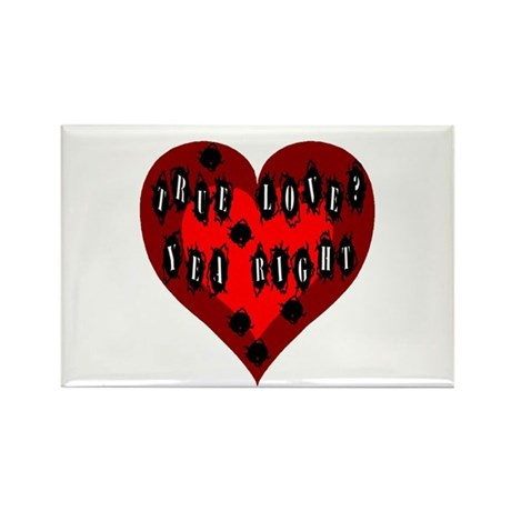 Holes in Heart Rectangle Magnet (100 pack)