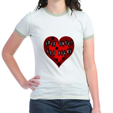 Holes in Heart Jr. Ringer T-Shirt