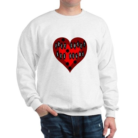 Holes in Heart Sweatshirt