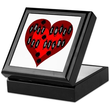 Holes in Heart Keepsake Box