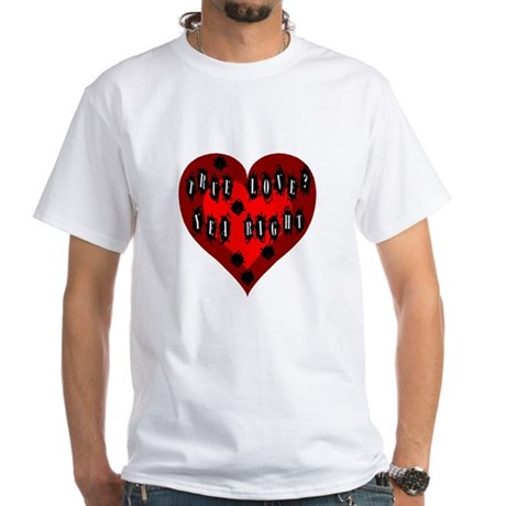 Holes in Heart White T-Shirt