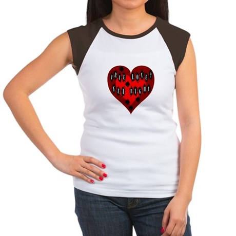 Holes in Heart Women's Cap Sleeve T-Shirt