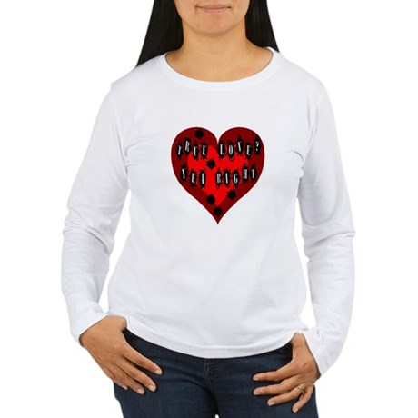 Holes in Heart Women's Long Sleeve T-Shirt