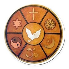 interfaith-1 Round Car Magnet