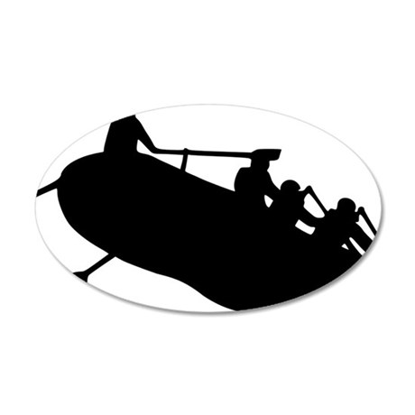 rafting 35x21 Oval Wall Decal