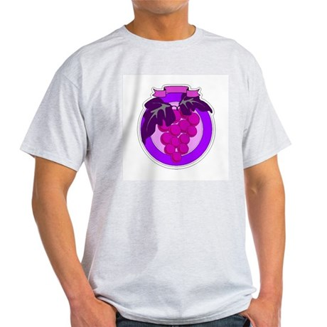 Purple Grapes Ash Grey T-Shirt