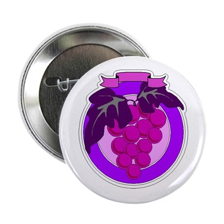 Purple Grapes 2.25&quot; Button (10 pack)