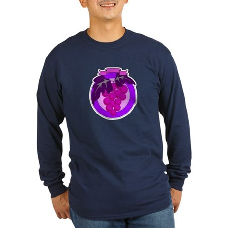 Purple Grapes Long Sleeve Dark T-Shirt