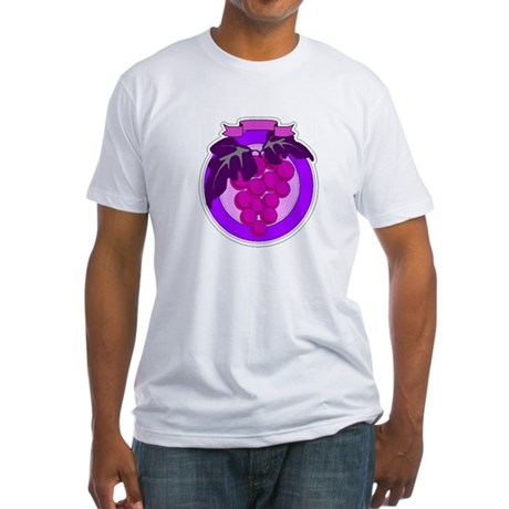 Purple Grapes Fitted T-Shirt