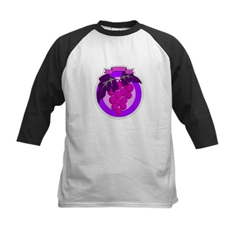 Purple Grapes Kids Baseball Jersey