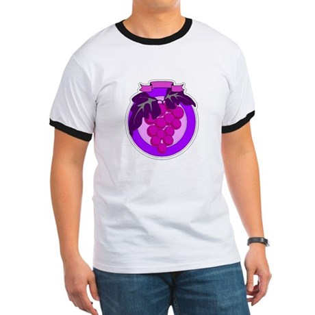 Purple Grapes Ringer T