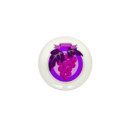 Purple Grapes Mini Button (10 pack)