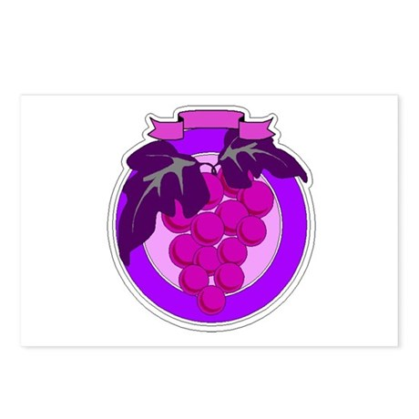 Purple Grapes Postcards (Package of 8)