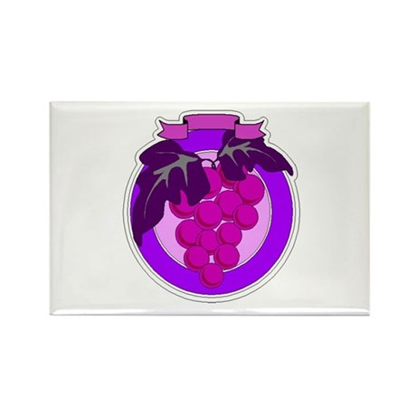 Purple Grapes Rectangle Magnet (100 pack)
