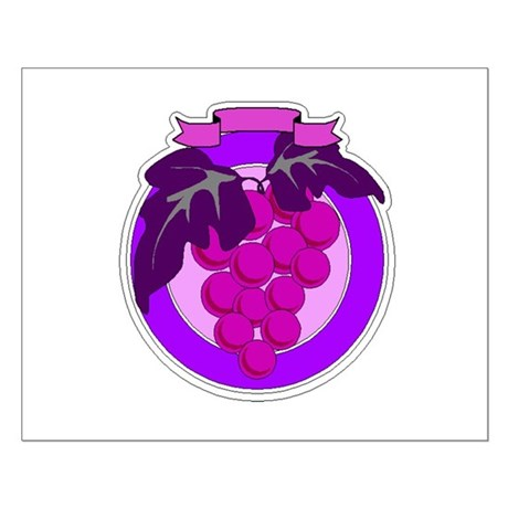 Purple Grapes Small Poster