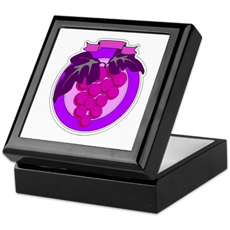 Purple Grapes Keepsake Box