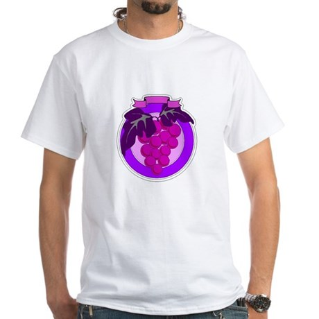Purple Grapes White T-Shirt