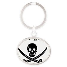 pirate_saucy_thong Oval Keychain