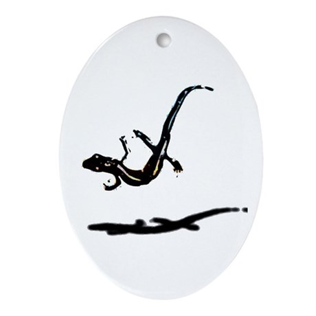 Gecko Oval Ornament