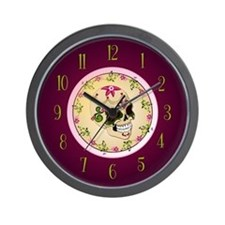 Sugar Skull Clock Wall Clock