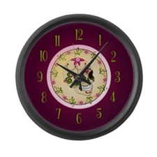 Sugar Skull Clock Large Wall Clock