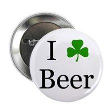"I Love Beer (Irish) 2.25"" Button (10 pack)"