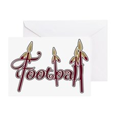 garnet and gold football Greeting Card