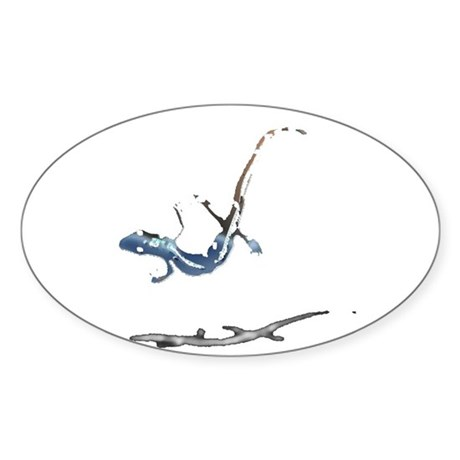 Gecko Oval Sticker