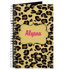 Cheetah Print Pink Personalized Journal