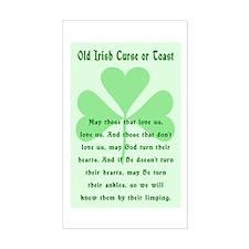 Irish Curse or Toast Rectangle Decal