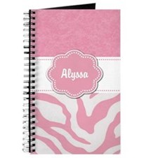 Pink Zebra Personalized Journal