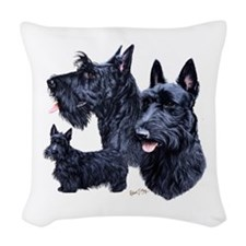 Scottish Terrier Woven Throw Pillow