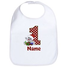 1st Birthday Bear Xmas Bib