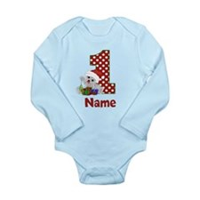 1st Birthday Bear Xmas Body Suit