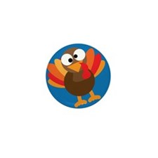 Thanksgiving Turkey Mini Button (10 pack)