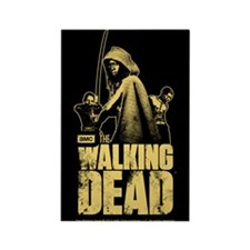 Cute Zombie walking dead Rectangle Magnet