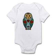 Sugar Skull Barn Owl Color Infant Bodysuit