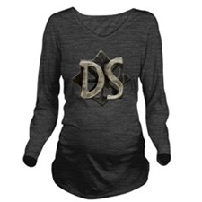ds seal button Long Sleeve Maternity T-Shirt