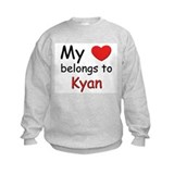 My heart belongs to kyan Sweatshirt