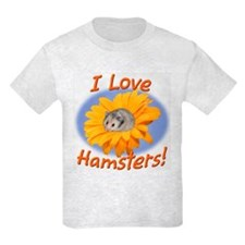 Hamster in Flower Kids T-Shirt