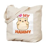 I Love My Hammy Tote Bag