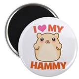 I Love My Hammy Magnet