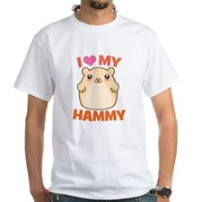 I Love My Hammy White T-Shirt