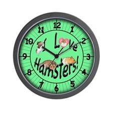 I Love Hamsters Wall Clock