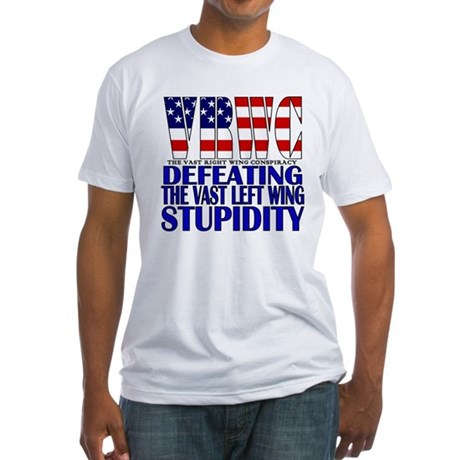 VRWC (Right Wing Conspiracy) Fitted T-Shirt